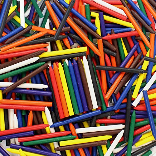 Premium Crayons Bulk Case of 270 (9 Colors) for Crafting NO Paper Wrapper Safety Tested Compliant with ASTM D-4236!]()