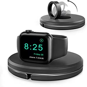HKHYOO Charging Stand for Apple Watch [Included Not Charger], Foldable Charging Stand Accessories [Cable Management] Compatible with Apple Watch Series SE 6/5/4/3/2/1 44mm 40mm 42mm 38mm