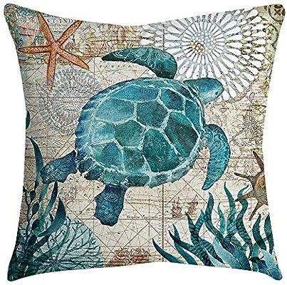 VJGOAL impresión de Moda hogar Decorativo Suave sofá cómodo Cojín Cuadrado Funda de Almohada 4 Piezas Conjunto(45_x_45_cm,Multicolor7)