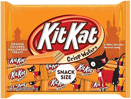 Kit Kat Orange-Colored Halloween Treats Snack Size Candy, 10.29 oz ()