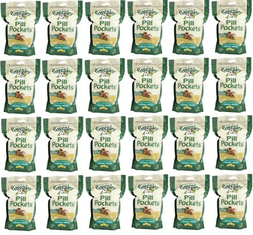 Greenies Chicken Large Dog Pill Pockets 11.85 lb (24x7.9oz bags)