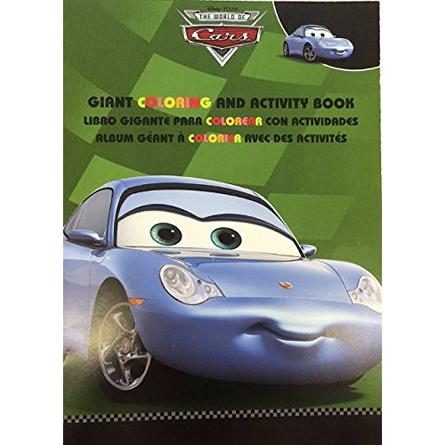Cars Giant 96 Pg Coloring And Activity Book Sally Carrera