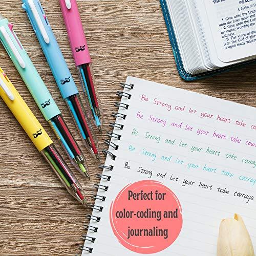 Mr. Pen- Multicolor Pens, Multicolor 5 in 1 Ballpoint Pens, 4 Pack, Multicolor Pen in One, Colored Pen, Multi Colored Pens, Multi Pen, Nursing Pens, Color Changing Pens, Multicolored Pens, Fun Pens