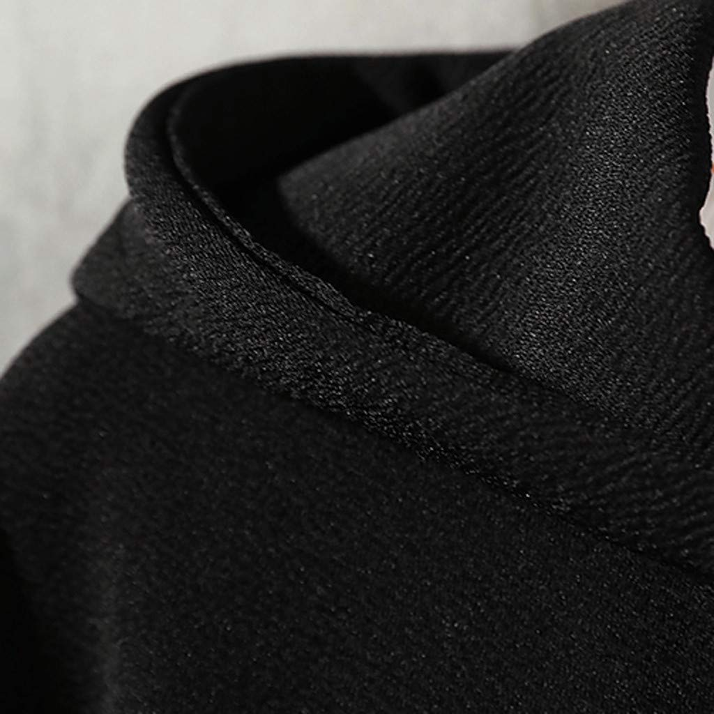 Landscap/_Men Casual Fashion Patchwork Hoodie Long Sleeves Cotton Hooded Sweatershirt Tops