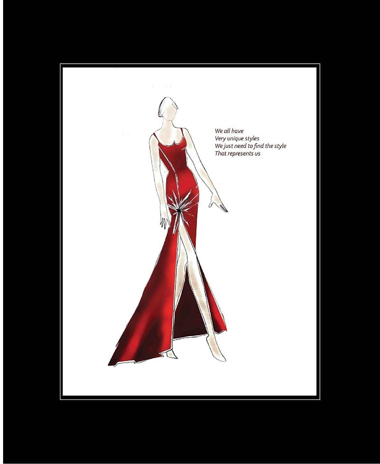 Amazon Fashion Illustration With Inspirational Quotes In A