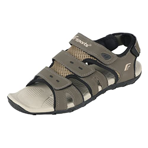 bdc680fb6af55 Fsports Men s Cannon Series Olive Black Synthetic Casual Sandals 11UK  Buy  Online at Low Prices in India - Amazon.in