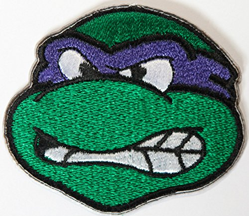 Donatello TMNT Embroidered Iron on Patch / Donny Purple Teenage Mutant Ninja Turtles Badge