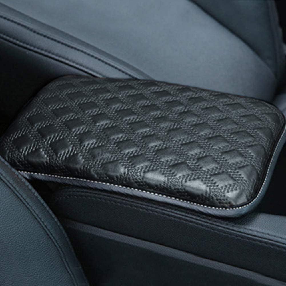 MiOYOOW Coussin de console centrale de voiture en cuir PU pour accoudoir de voiture universel pour v/éhicule SUV camion