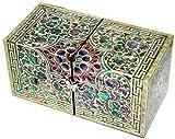 JMcore Mother of Pearl Arabesque Design Jewelry Box Nacre Jewellry Organizer