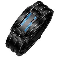 iHee Armband, bequem zu tragen, Luxus-Edelstahlband für Herren, digitales LED-Armband, Sportuhr, modisch, leicht zu verwenden, sehr cool