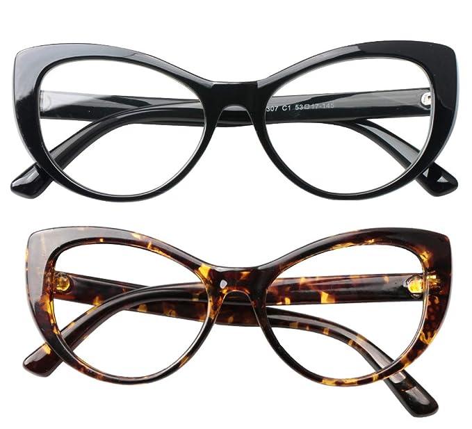 Amazon.com: SOOLALA - Gafas de lectura para mujer con marco ...