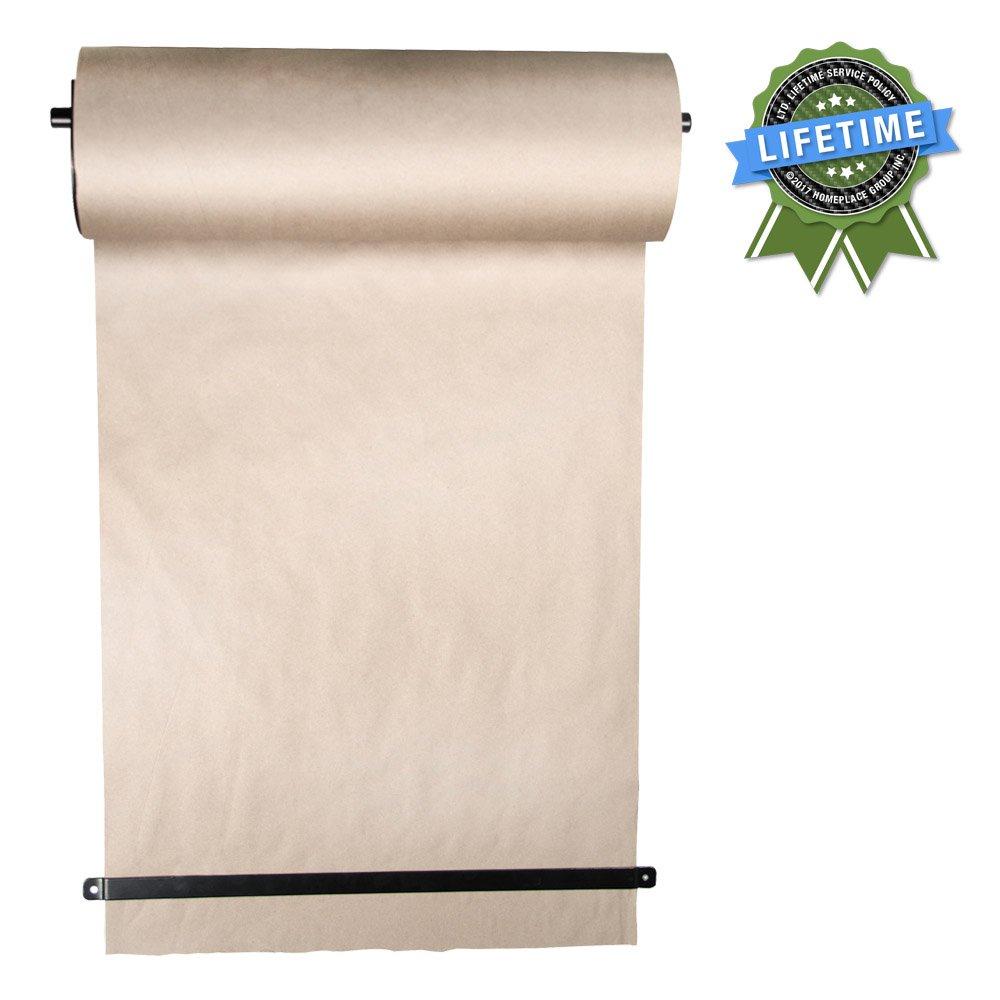thinkscroll 24 wall mounted kraft paper roll holder dispenser
