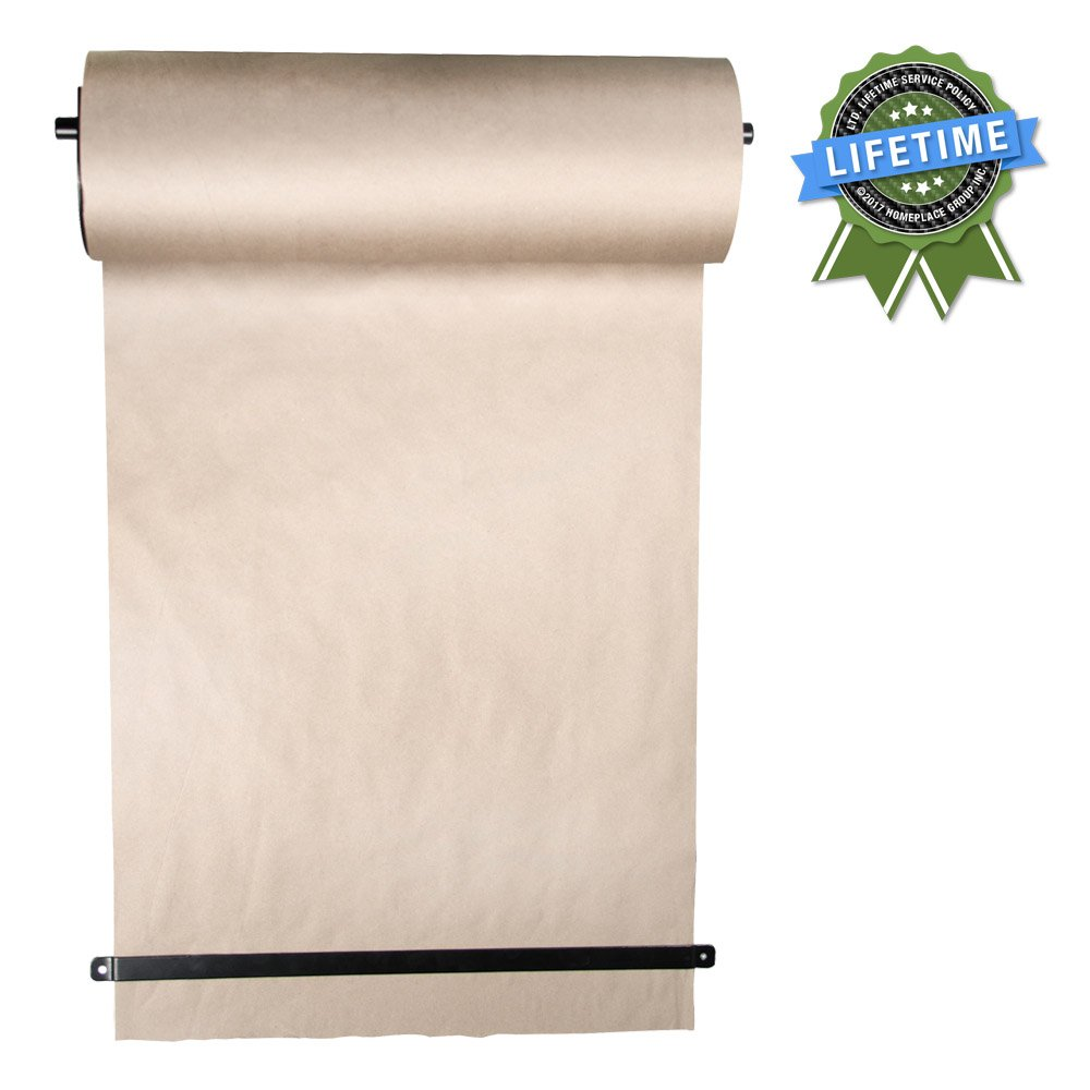 ThinkScroll 24'' Wall-Mounted Kraft Paper Roll Holder, Dispenser, Menu, Grafitti
