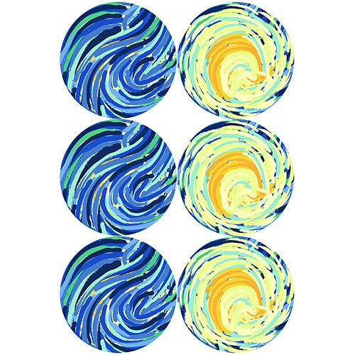 12 in. Starry Night Cutouts Standup Photo Booth Prop Background Backdrop Party Decoration Decor Scene Setter Cardboard Cutout