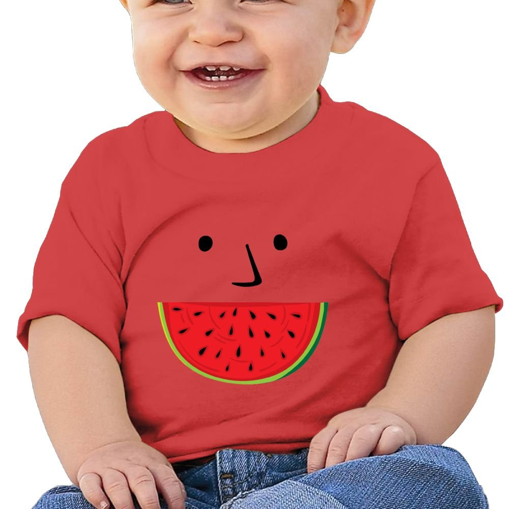 REBELN Watermelon Face Cotton Short Sleeve T Shirts for Baby Toddler Infant