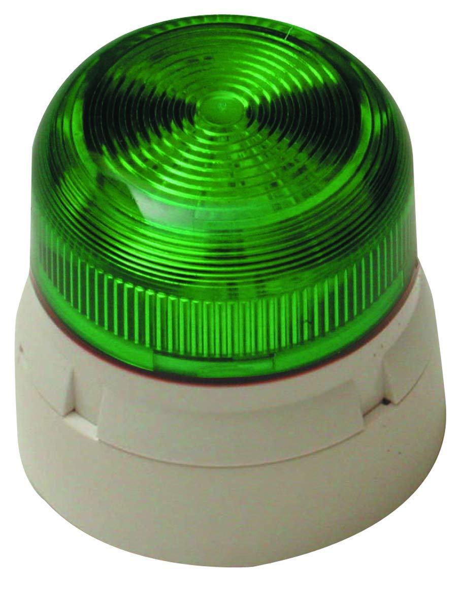 15 mA Klaxon Signals QBS-0018 tipo xen/ón 1 Hz tasa de flash Baliza de bajo perfil 3 W lente /ámbar 230 V CA