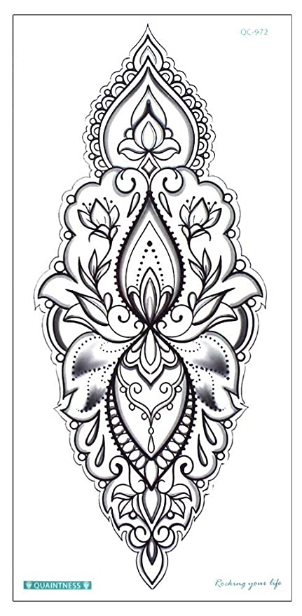 Mandala Tattoo Negro qc972: Amazon.es: Belleza