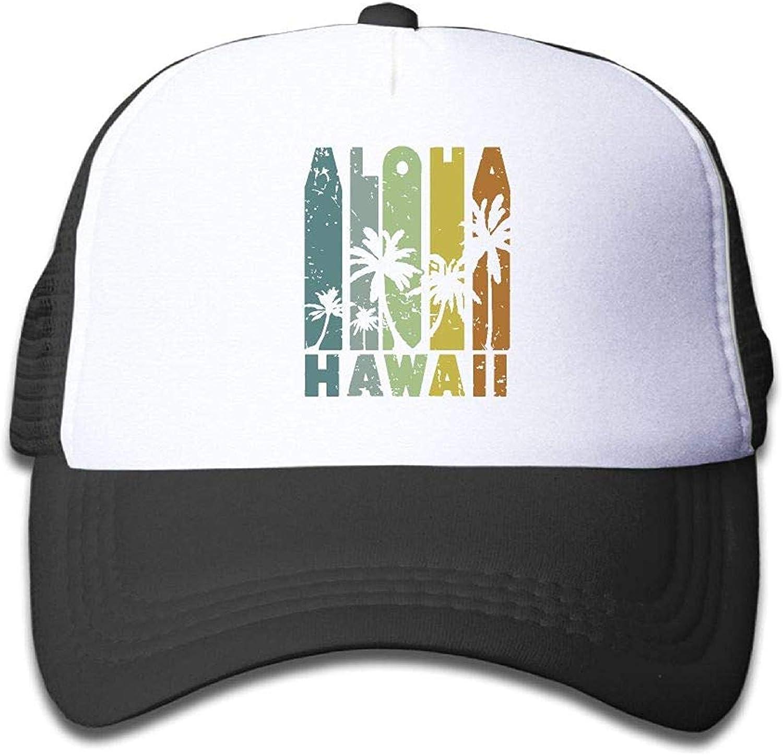 IMERIOi Hawaii Aloha Jugend Mesh Baseball Cap Sommer Verstellbarer Trucker Hut