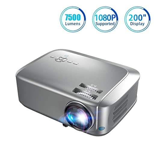 Proyector 7500 Lumen 1080P Bombilla LED nativa de 24W 20000 Horas ...