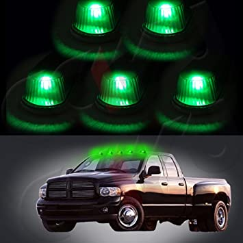 cciyu 5 unidades claro marcador de cabina Remoción Running Light + T10 6SMD LED verde bombillas W/Base para camión 4 x 4: Amazon.es: Coche y moto