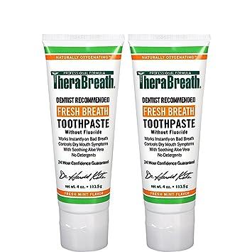 Amazon.com : TheraBreath Dentist Formulated Fresh Breath Toothpaste ...