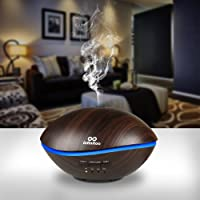 Infinitoo Essential Oils Diffuser 500ml Ultrasonic Aroma Diffuser, Automatic Shut-Off Cool Mist Humidifier Diffuser with 4 Modes to Adjust Time and 7 Colors for Baby Room, Home,Yoga, SPA, Office