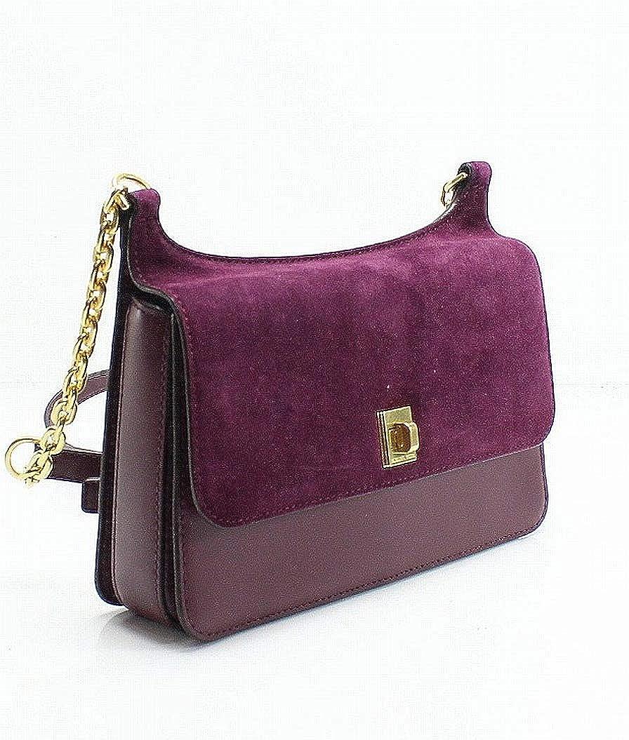 75b3a6b86a30 Amazon.com  MICHAEL Michael Kors Womens Natalie Suede Messenger Handbag  Purple Small  Shoes