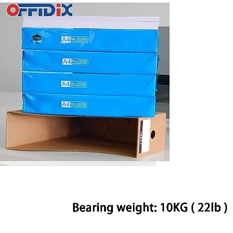 OFFIDIX Oficina 5 niveles Caja de almacenamiento de escritorio de papel Kraft A4 Organizador de papel de soporte de documentos para oficina en casa Caja de ...