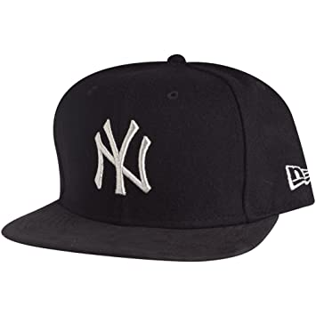 b9224d4ea34 New Era Men Caps Snapback Cap Melton Metallic York Yankees Black M L ...