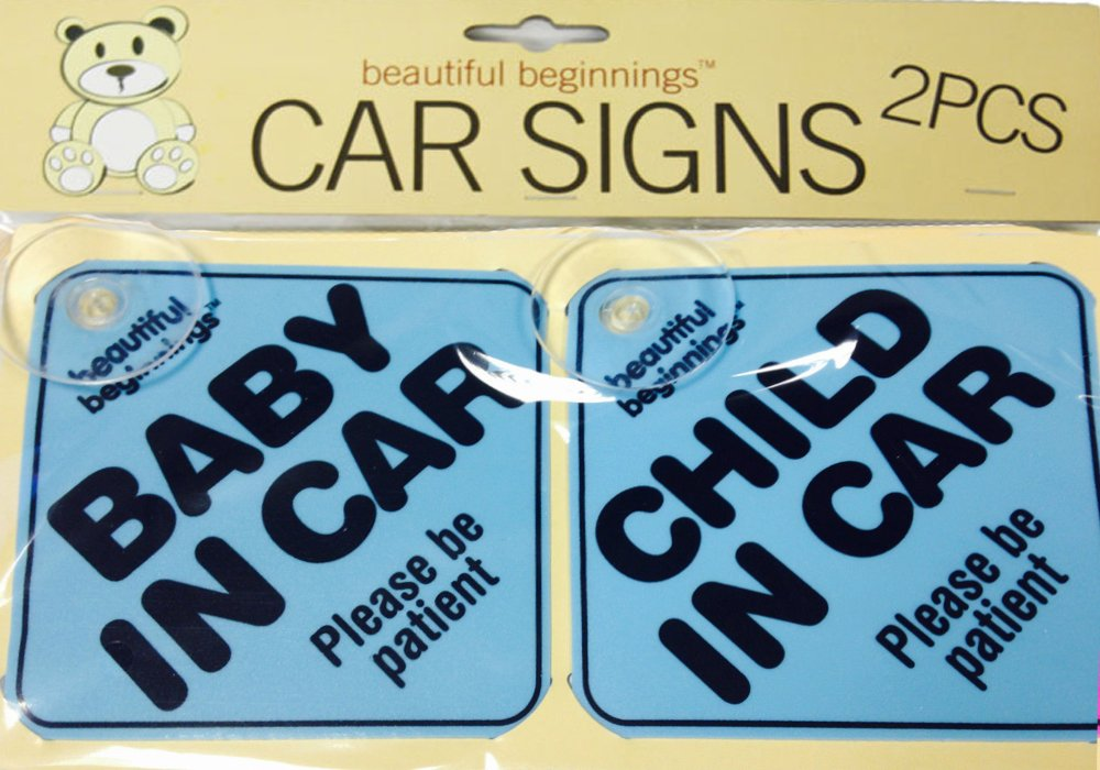 2 Pack Beautiful Beginnings Car Sign Kids Safety Child Baby Blue 8