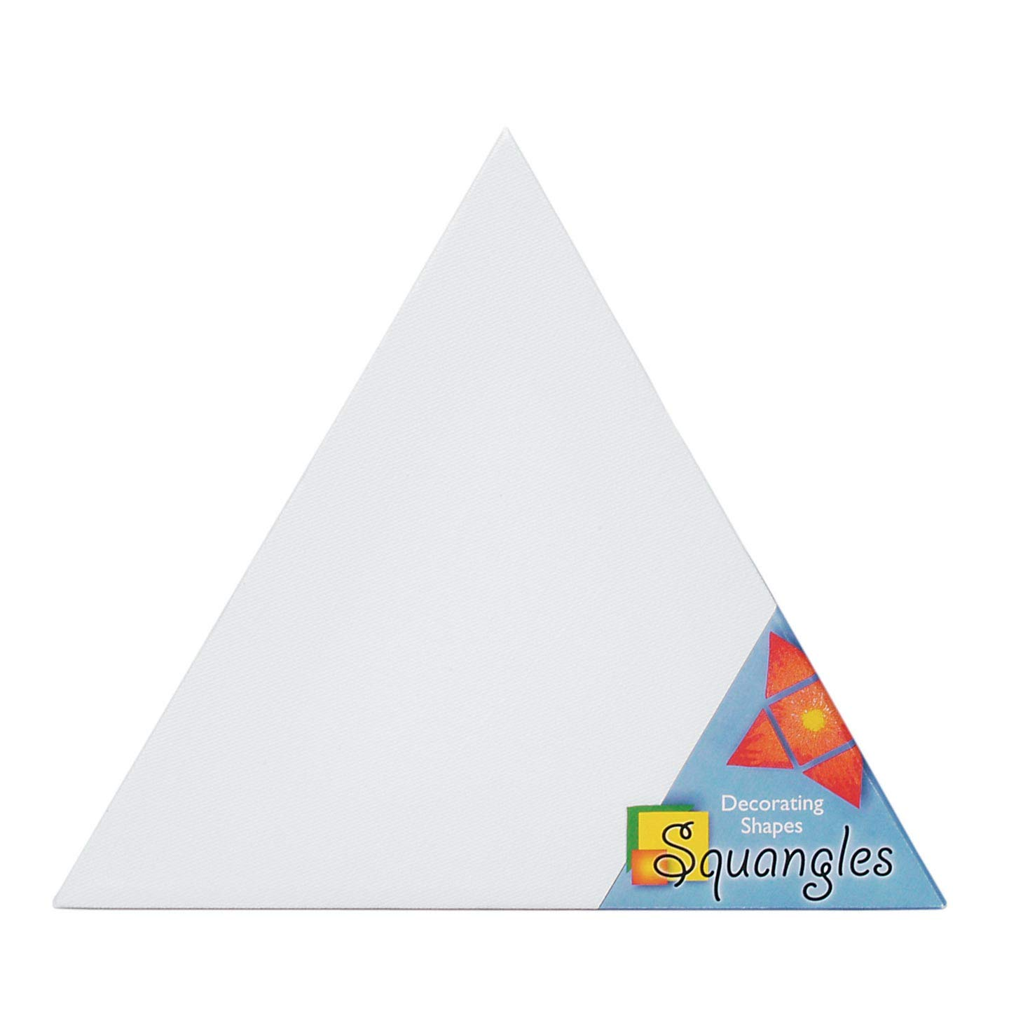 Darice Bulk Buy DIY Squangles Decorating Shapes Triangle Canvas Panel 12 inch (6-Pack) SQ116 by Darice