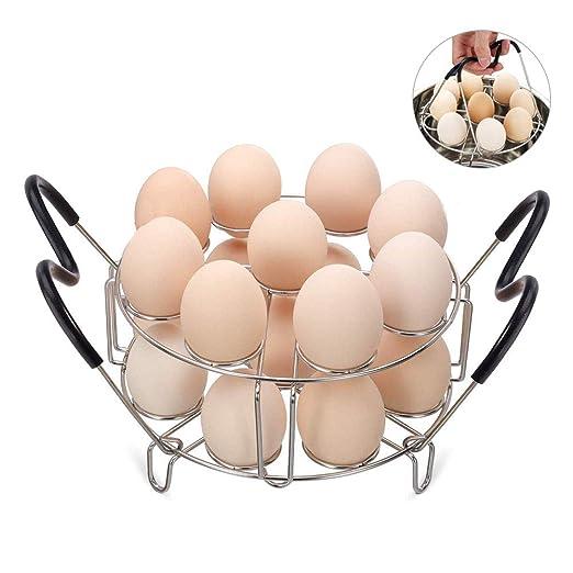 LYWWH Parrilla De Vapor Apilable para Huevos con Mango Resistente ...
