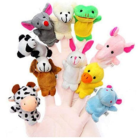 Buy Babique Animal Finger Puppet Soft Toys Puppet For Baby Boy And