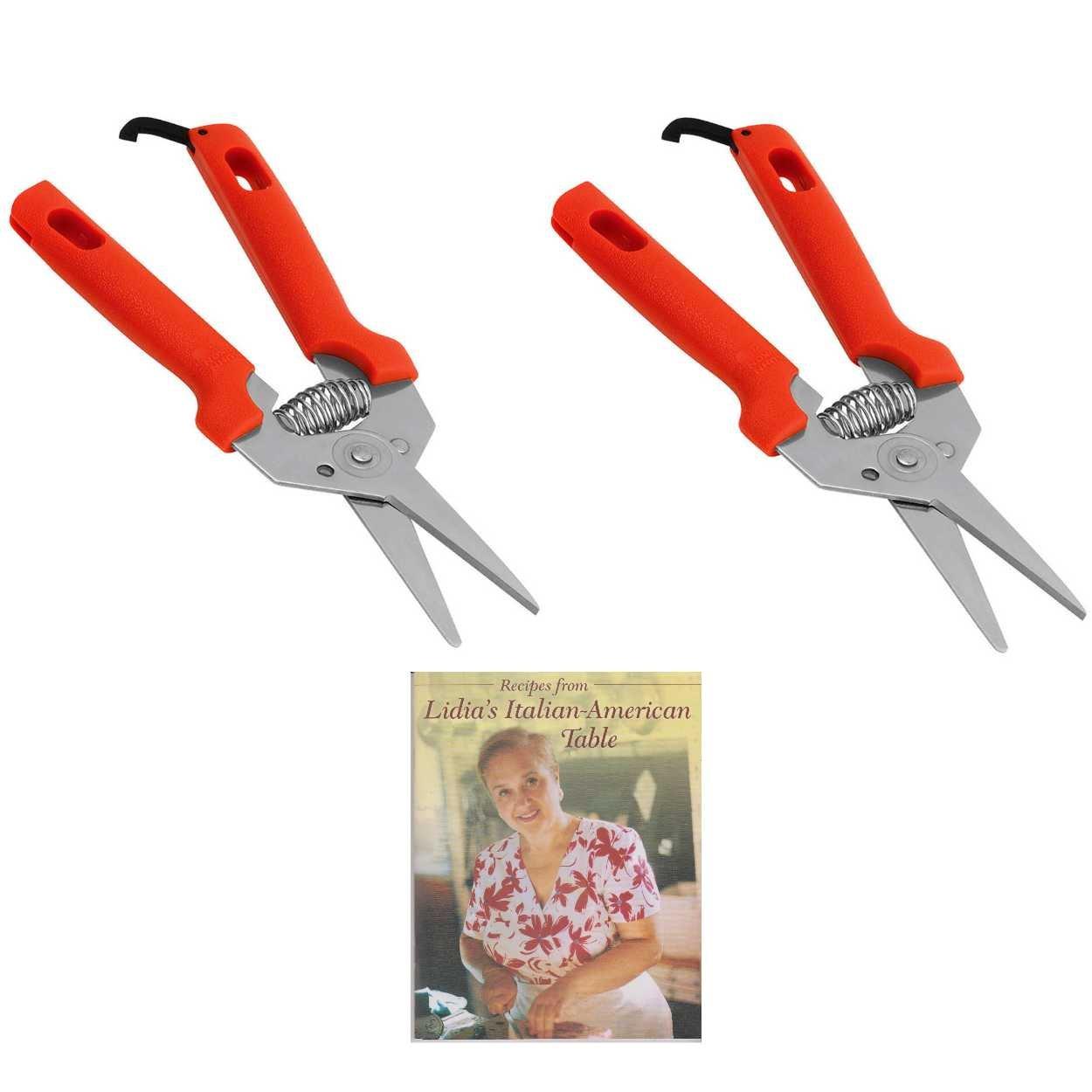 Set of Two Kuhn Rikon 27007-KUHN Classic Mini Snips (Red) Includes Cookbook