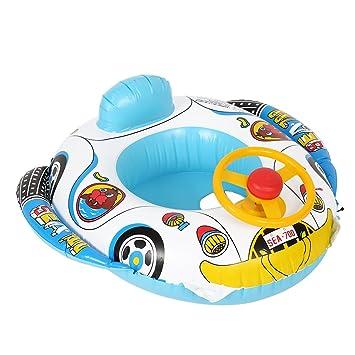 Barco Flotador Inflable para Niños Flotador con Asientos para Bebés Niños Juguete Infantil de Natación para Piscina Playa: Amazon.es: Juguetes y juegos