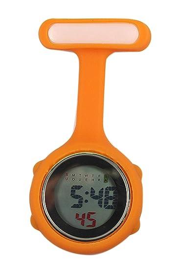 Reloj de enfermera digital (naranja)