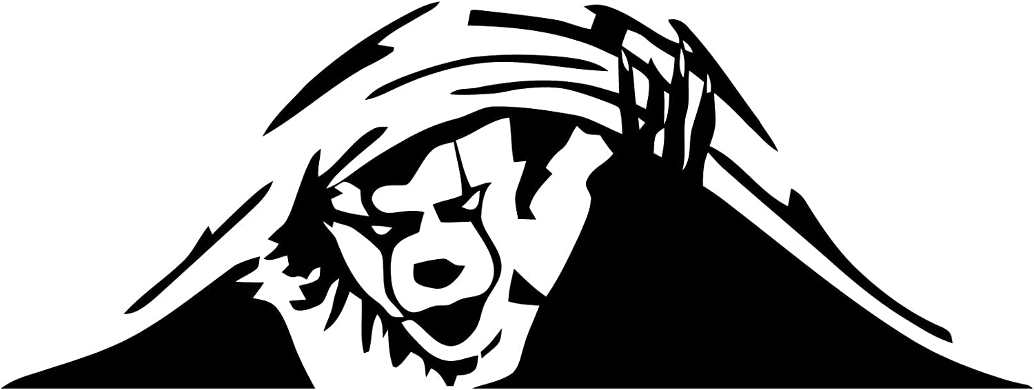 Funny Car Decal - Peeking Monster - Scary Eyes - Monster Clown - Sticker for Laptop Ipad Car Truck Motorcycle Window Wall Toilet(Custom Color)-8x3''
