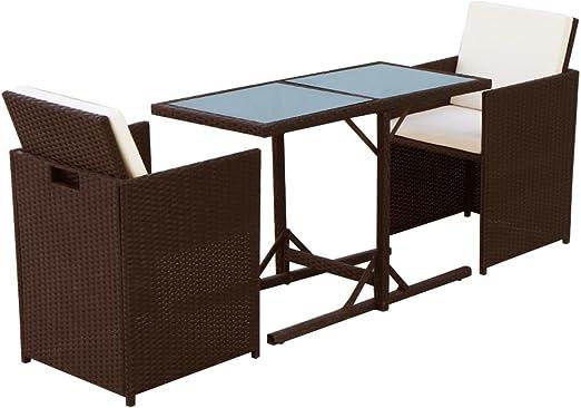 Nishore Conjunto Muebles de Jardín de Ratán 7 Piezas Sofa Jardin Exterior Sofas Exterior Conjunto Jardin para Jardín Terraza Patio en Poli Ratán Diseño Elegante Marrón: Amazon.es: Hogar