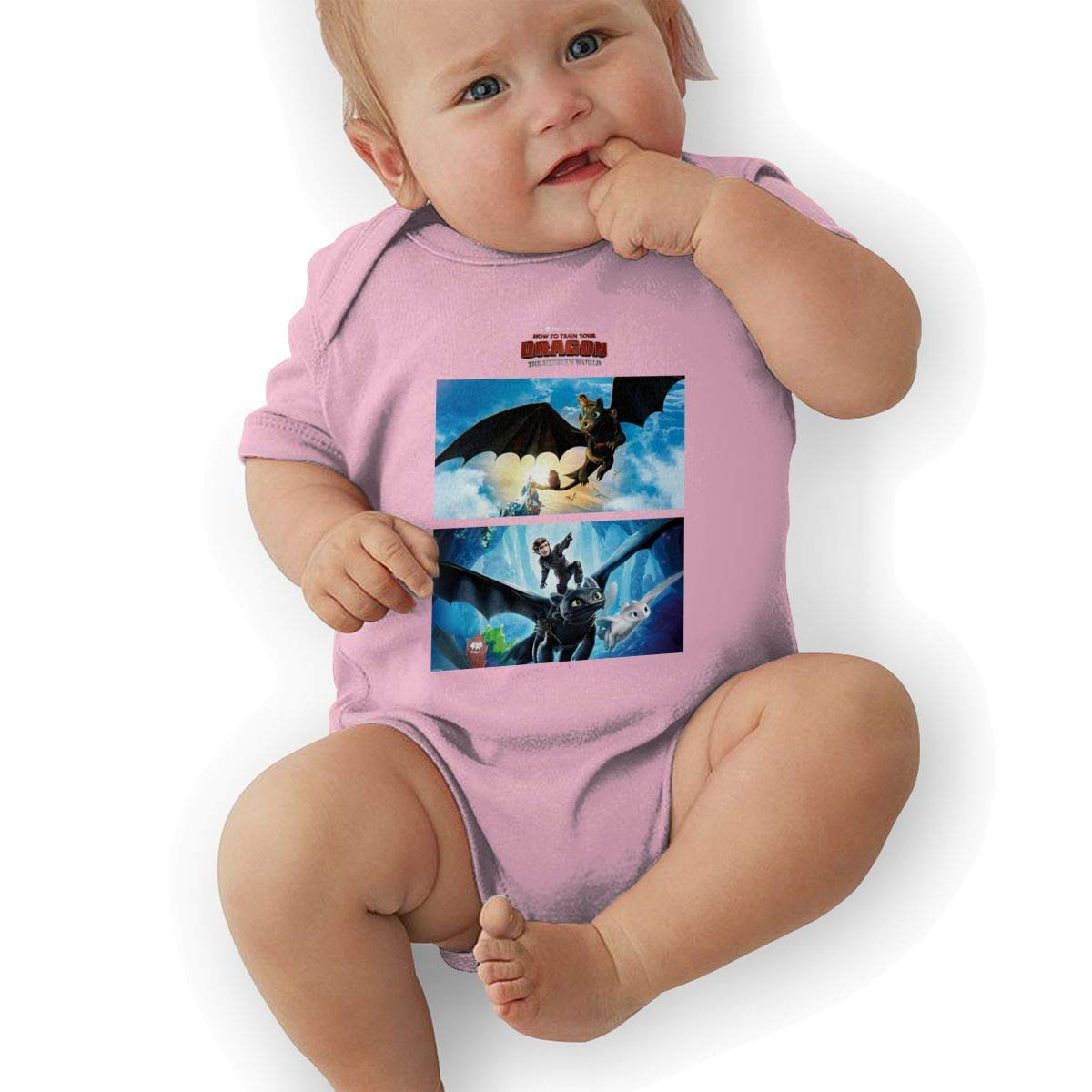 LucyEve Unisex Baby Crew Neck Short-Sleeve Onesie How to Train/_Your/_Dragon Funny Crawling Clothes Black