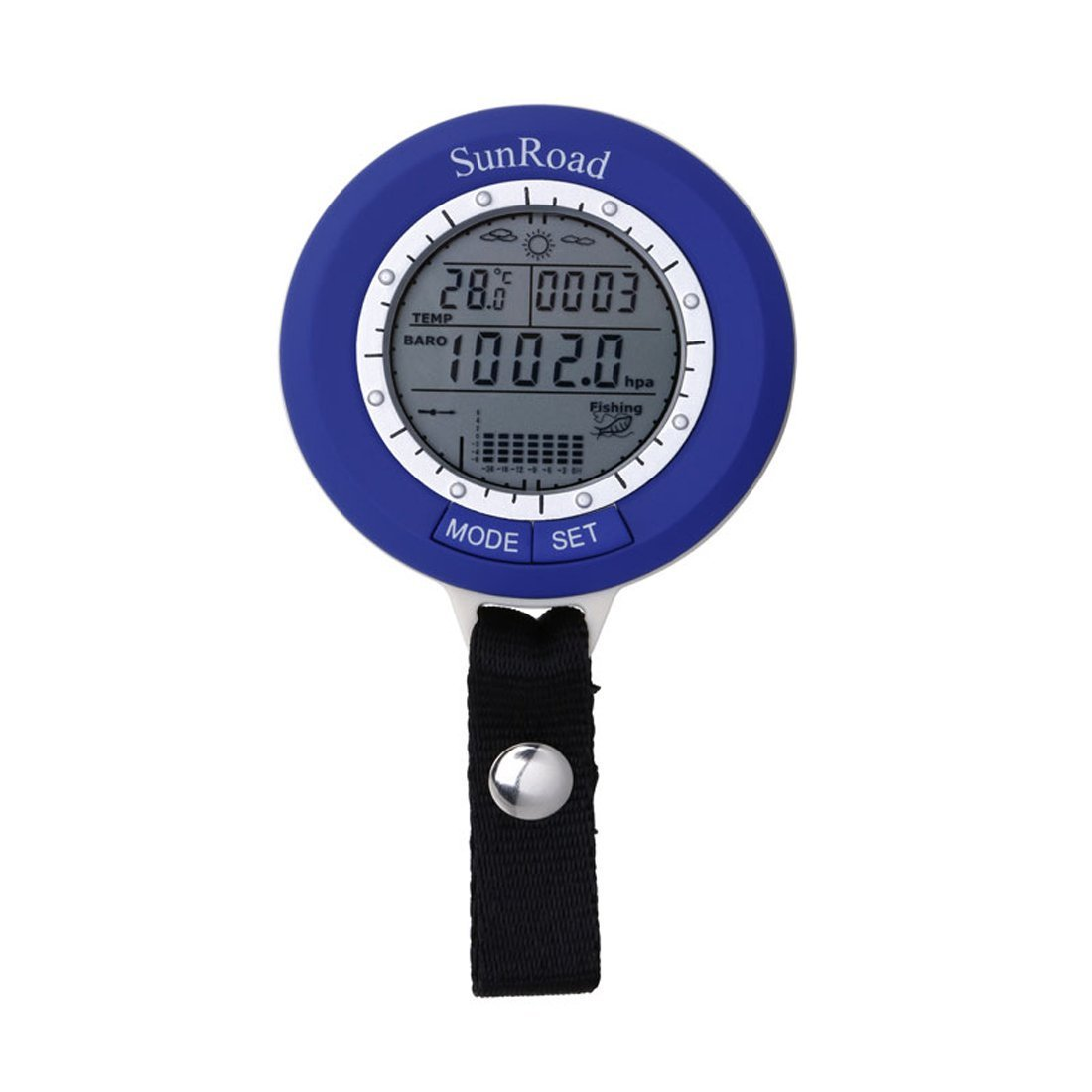 SUNROAD SR204 Mini LCD Digital Fishing Barometer Hand-hold Watch Altimeter Thermometer Lure Line Fish Finder Watch Man