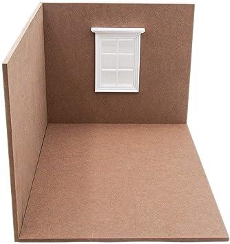 Amazon.es: Odoria 1/12 Miniatura Caja de Madera Sala Abierta y Ventana Muebles para Casa de Muñecas: Juguetes y juegos