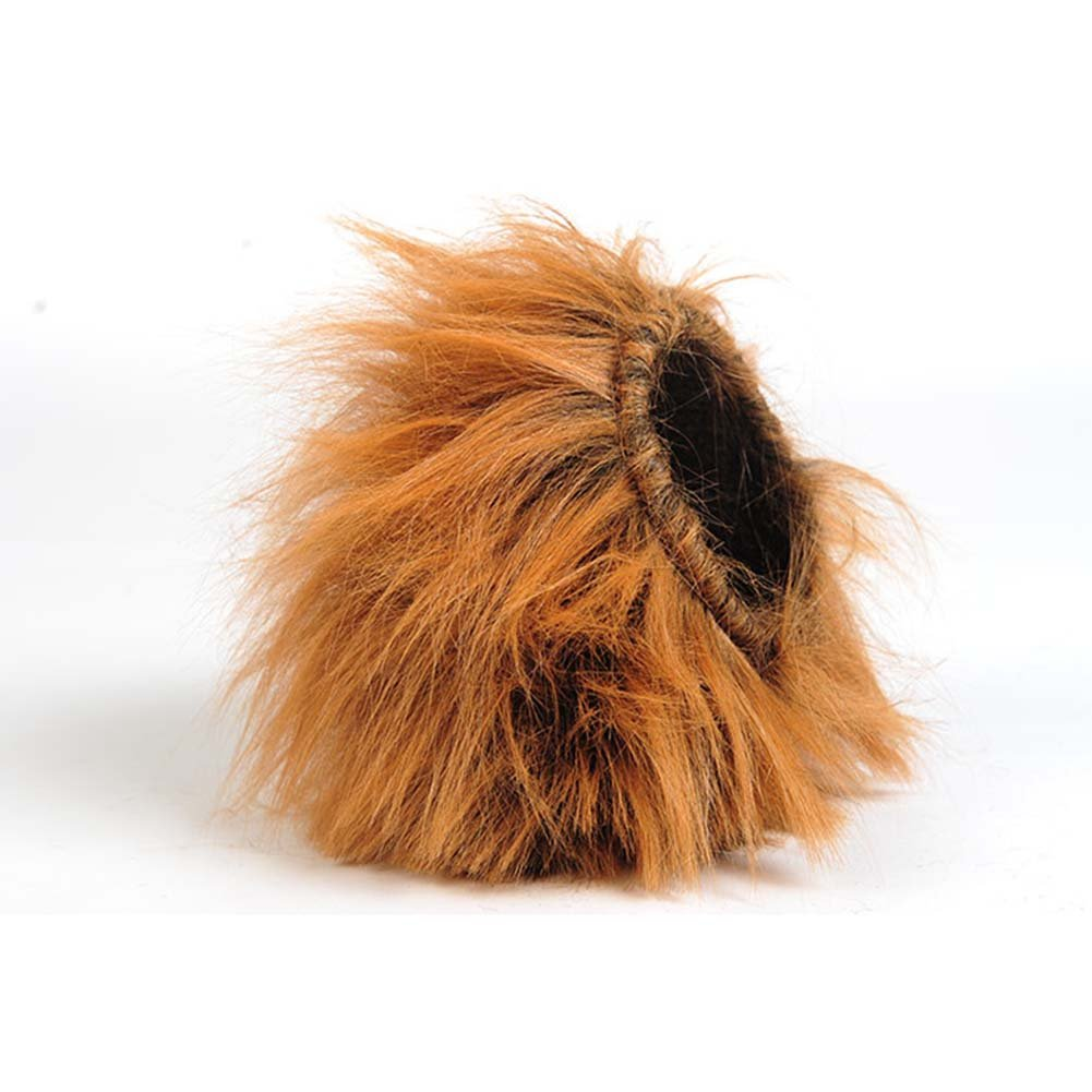 Christmas Gifts Lion Mane Cat Wig & Pet Puppy Dog Mane Lion Wigs Mane Hair Fancy Dress Costume L Brown Toy-like Lion Mane Stuffed & Plush Toy Cat Lion Hat for Cats and Puppy Dogs Halloween, Christmas