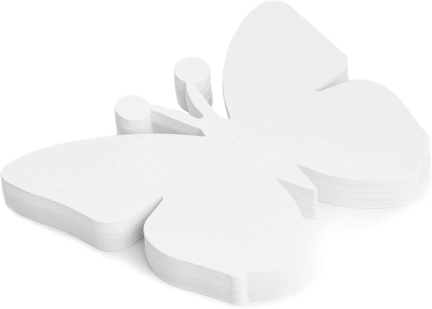 White Bright Creations Paper Cutout Shapes 7.5 x 6 Inches Butterfly 50 Count