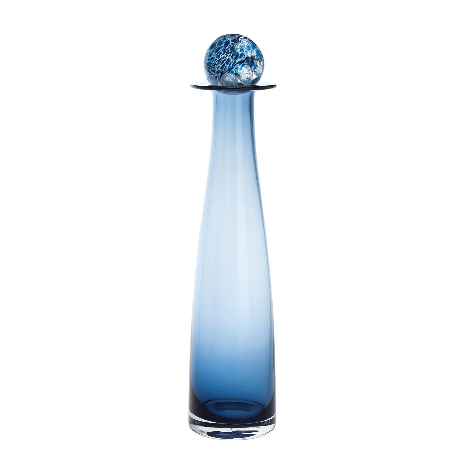 DARTINGTON CRYSTAL Elgin Ink Blue Large Bottle, Crystal, 9 x 9 x 35 cm
