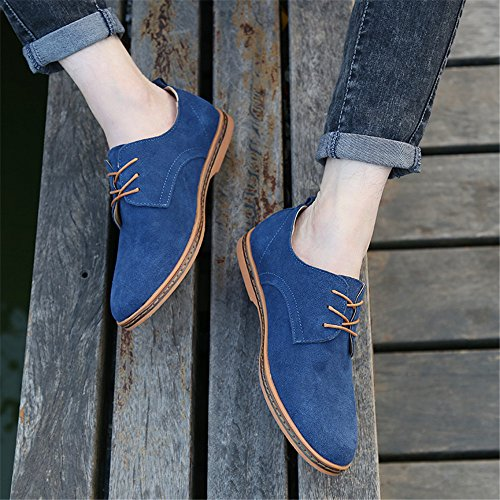 Uomo Shoes Pelle Oxford Basse di Oxford Uomo SHELAIDON Scarpe Stringate Men Blu Scarpe qAWpncI1