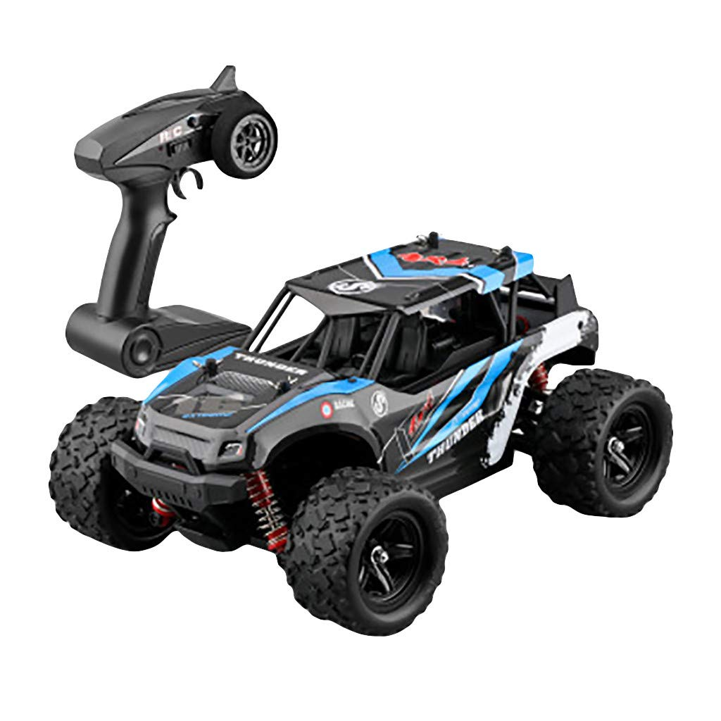 bluee QHJ 2.4G 4WD High Speed 50km h Radio Controlled Offroad Remote Control Racing Car big wheel speed package mail (red)