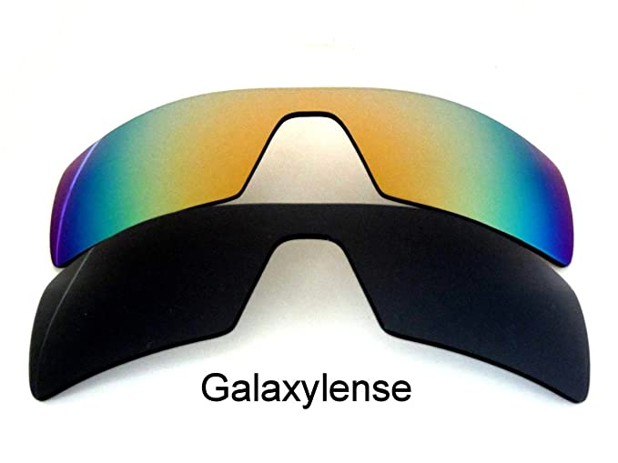 22a46f7e32 Amazon.com  Galaxy Replacement Lenses for Oakley Oil Rig Black Gold Color  Sunglasses 2 Pairs Polarized