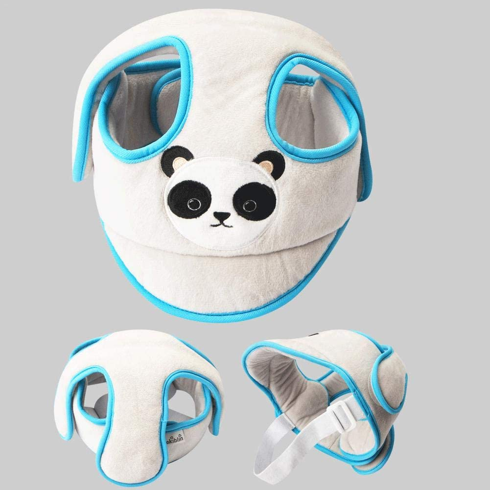 Gray Baby Adjustable Safety Helmet Headguard Protective Harnesses Cap Baby Toddler Protective Cap Anti Collision Child Safety Helmet