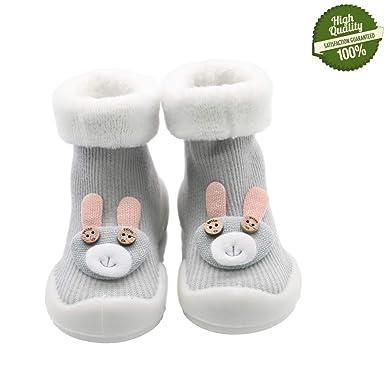 DOTBUY Lindo Calcetines de Bebé Niños, 1 pares Unisexo Cálido Grueso Niñas Calcetines Cómodo Suave Absorben el Sudor Navidades Calcetines Socks para 0-3 ...