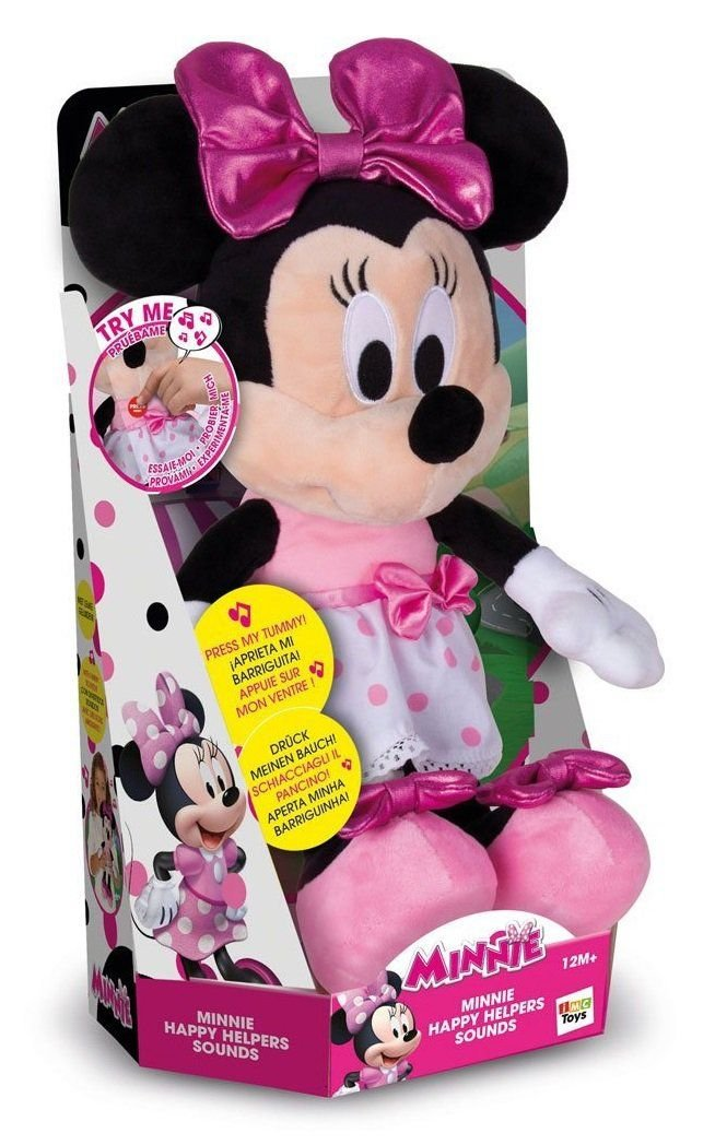 IMC Toys - Minnie Happy Helpers, peluche interactive sonore - 182431 - Disney product image